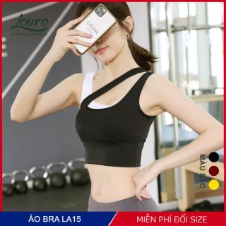 Áo bra tập gym nữ croptop Louro, kiểu áo tập phối màu hợp tập thể thao, zumba, yoga, gym, vải co giãn - LA15 thumbnail