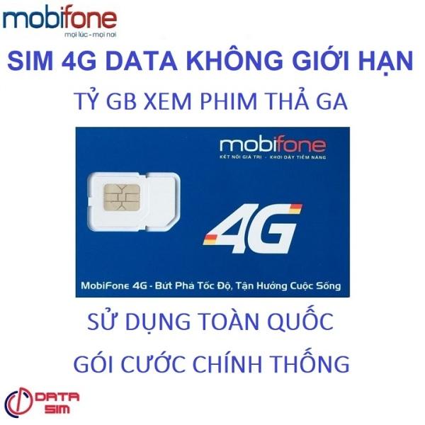 Sim 4G tỷ GB mobifone 500 phút mobi 30 phút liên mạng có sẵn 2 tháng sử dụng