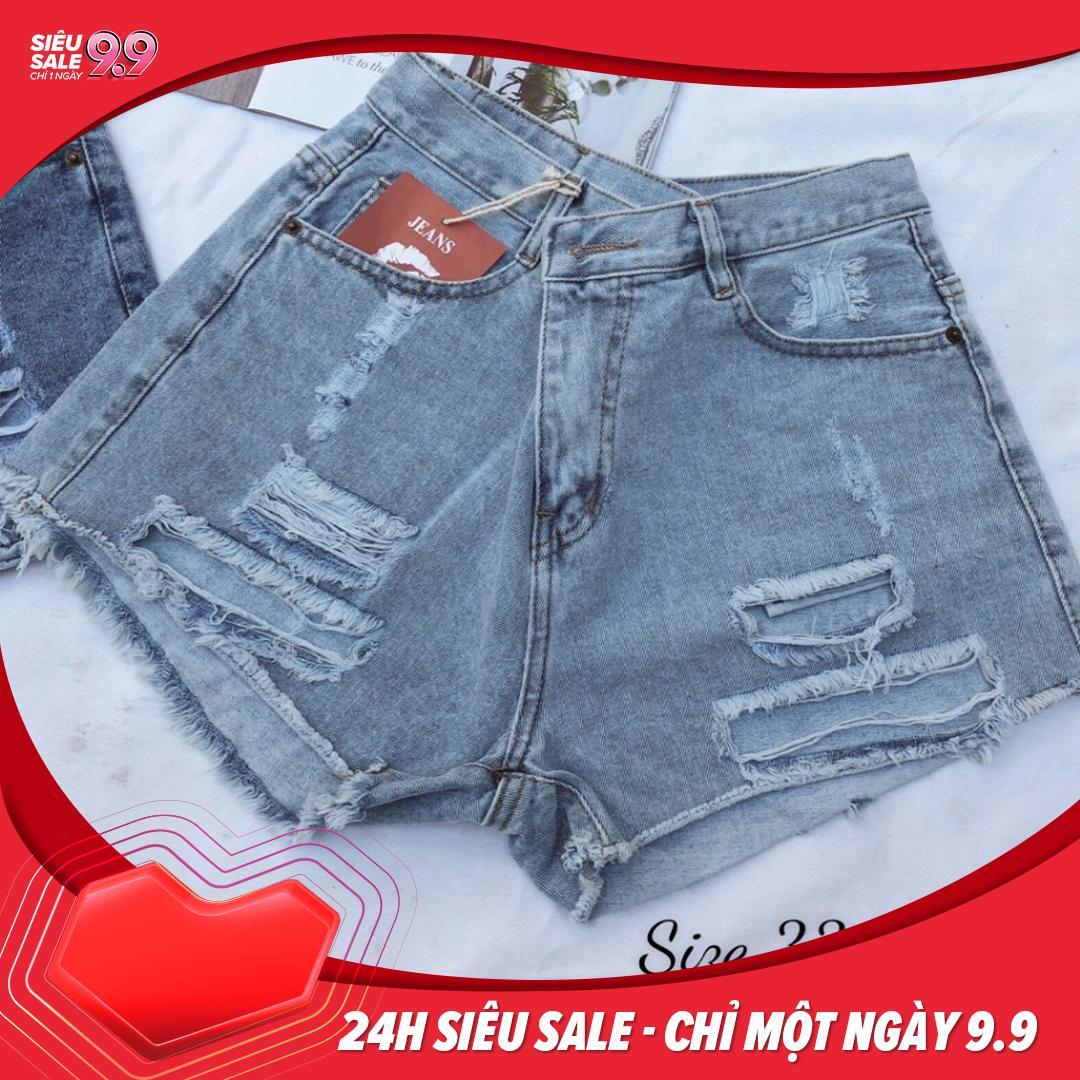 Quần short jean nữ rách size đại - 2KJean