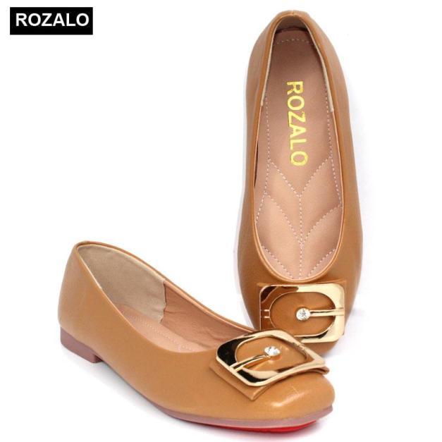 Giày búp bê đế bệt siêu dẻo mũi tròn Rozalo R5611 giá rẻ