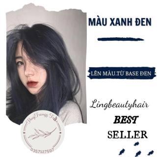 (không tẩy 100%) thuốc nhuộm tóc màu XANH ĐEN + TẶNG kèm oxy trợ nhuộm và găng tay thumbnail
