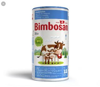 Sữa hộp hữu cơ Bimbosan bio 12 400g thumbnail