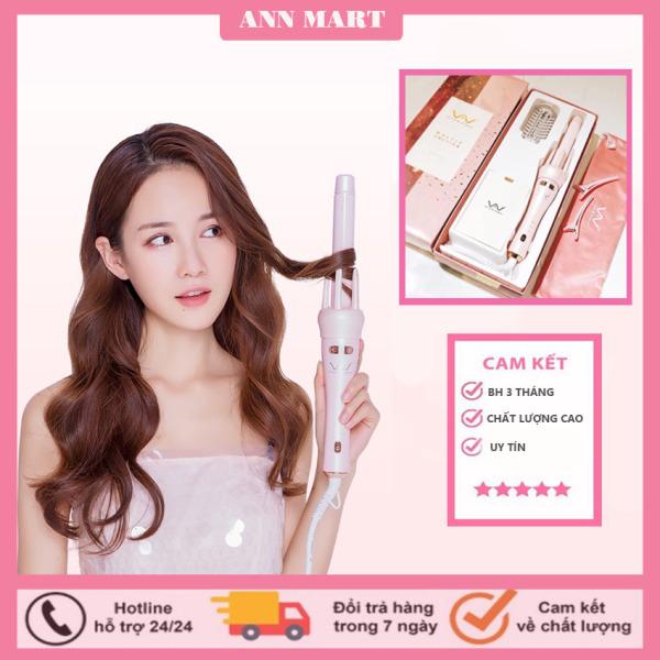 [MẪU MỚI NHẤT 2021] Máy uốn tóc xoăn tự động 360 Hàn Quốc - với 2 chức năng vừa uốn xoăn, vừa uốn cụp - Máy uốn tóc, máy làm xoăn cao cấp BH 3 tháng tại shop ANN MART