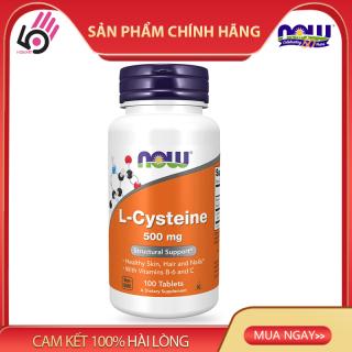 Thực phẩm bổ sung L-Cysteine 500mg, Vitamin B6, hỗ trợ da mụn, bổ sung dưỡng chất da, tóc, móng, Now Foods, 100 viên nén thumbnail