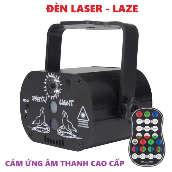Đèn Laser tích hợp cảm biến nhạc vũ trường karaoke cao cấp - Hàng nhập khẩu