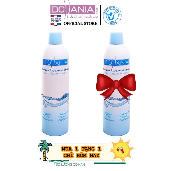Xịt khoáng Dollania giúp dưỡng ẩm cấp nước và làm dịu làn da Brumisateur Eau Minerale  400ml - Date 11/2021