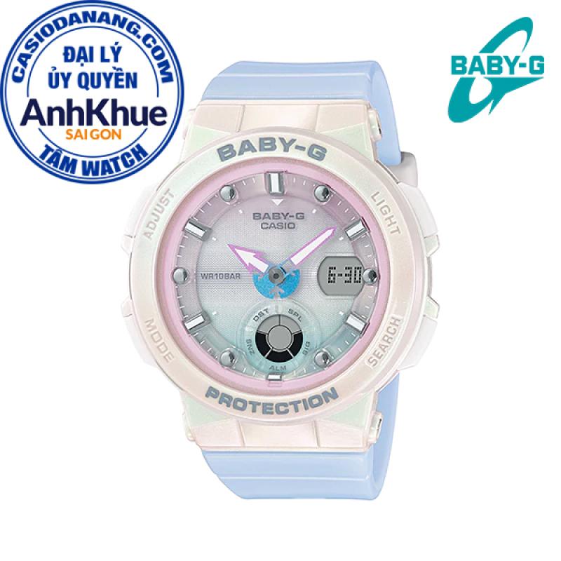 Đồng hồ nữ dây nhựa Casio Baby-G chính hãng Anh Khuê BGA-250-7A3DR (41mm)