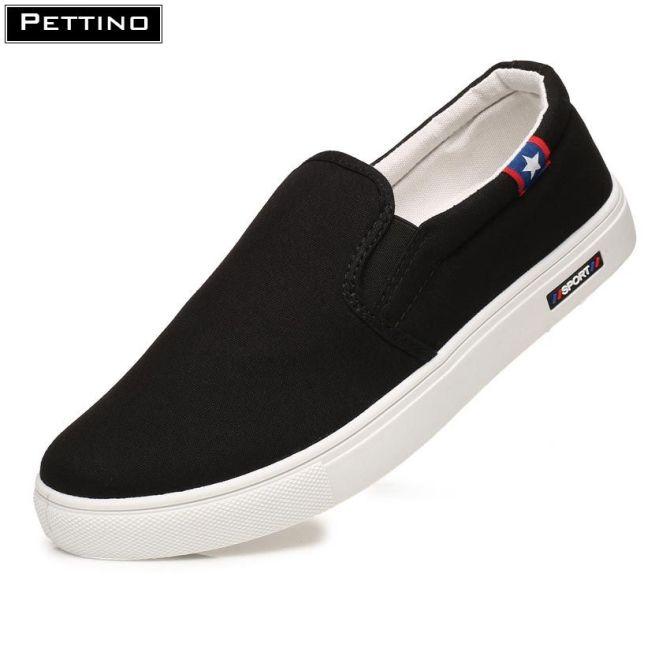 Giày slip on nam, giày vải nam, trơn màu hiện đại, giày lười nam cơ bản Pettino - LLTL03 giá rẻ