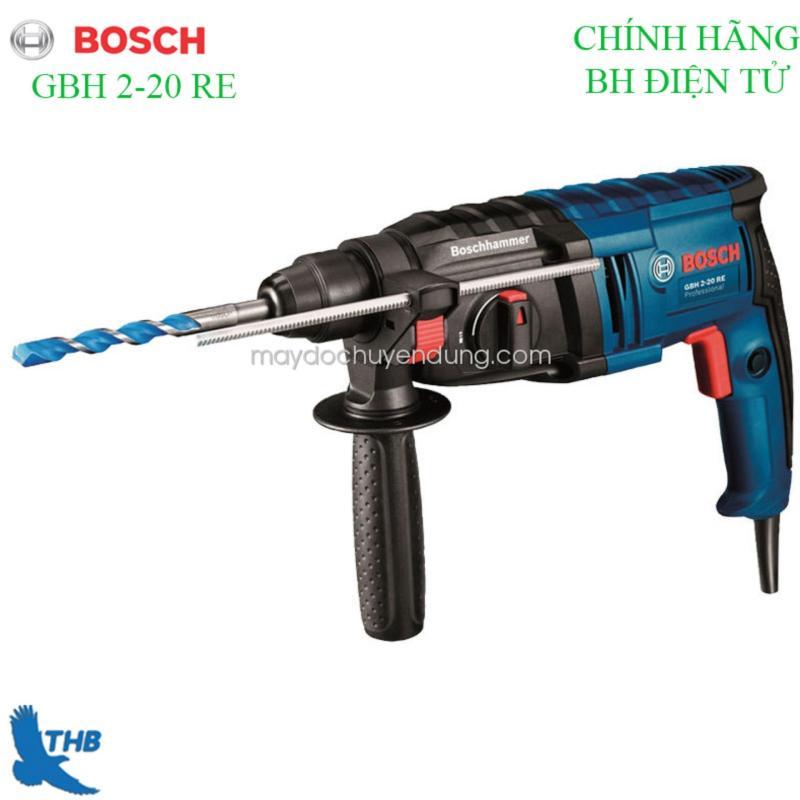 Máy khoan bê tông, máy khoan Búa, Máy khoan tường, Máy khoan đa năng Máy khoan Bosch chính hãng GBH 2-20 RE ( Công suất 600W Bảo hành điện tử 6T xuất xứ Malaysia Mũi khoan bê tông 20mm ). 3 Chức năng khoan xoay, khoan búa và đảo chiều