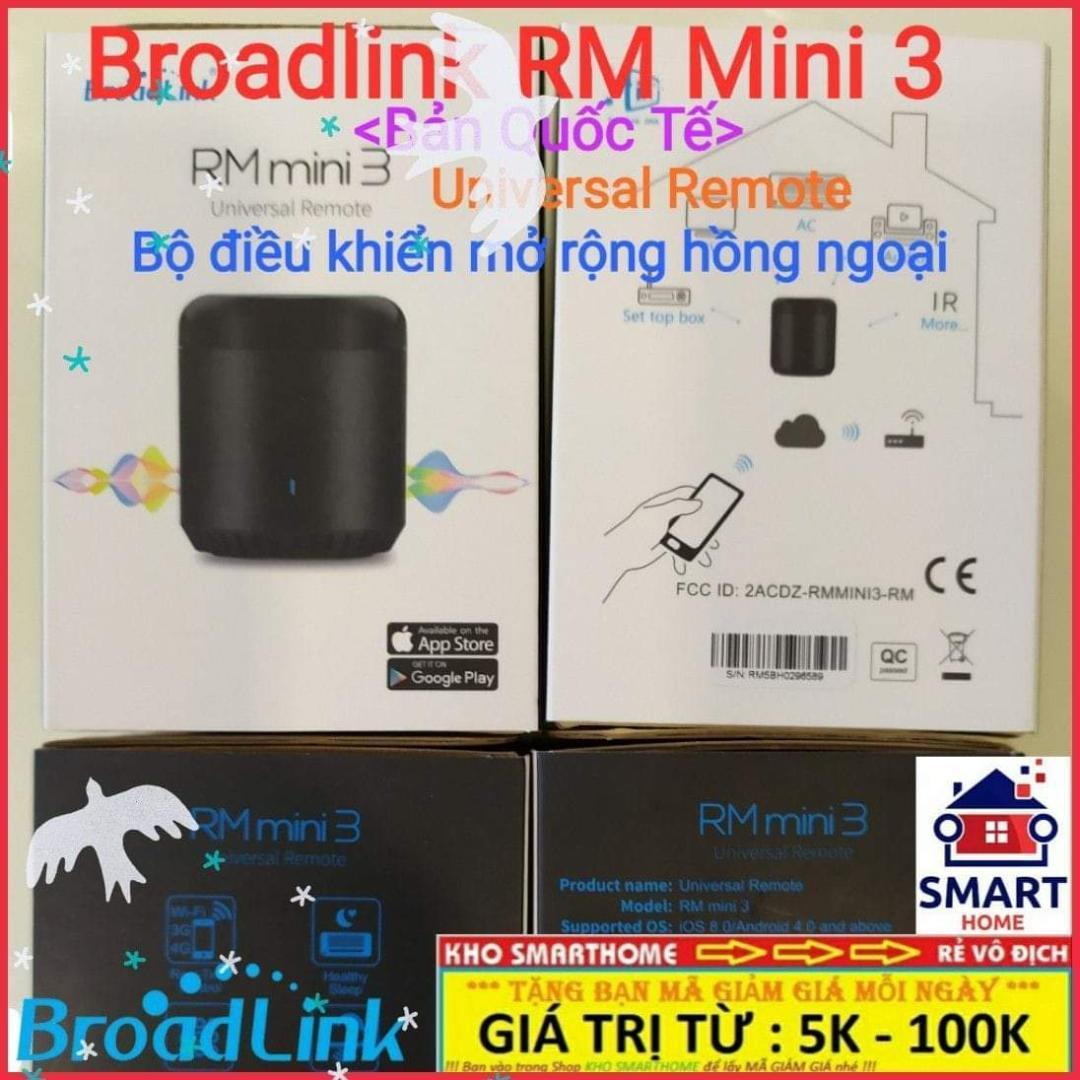 Thiết bị thông minh Broadlink RM Mini 3 điều khiển mở rộng hồng ngoại qua Wifi, 3G, 4G