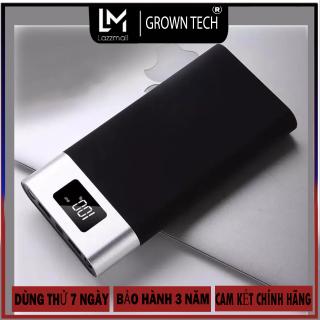 Pin sạc dự phòng YM-101 Growntech 20000mAh dung lượng lớn sạc nhanh hiển thị pin điện tử kèm theo đèn pin 2 loại cổng vào android và IOS thumbnail