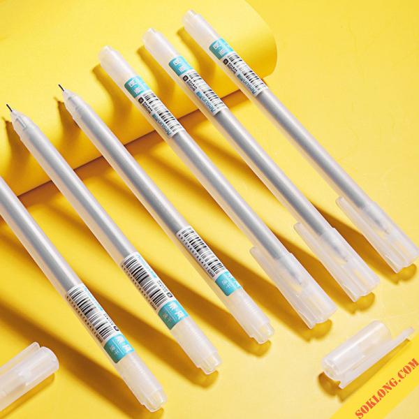 Bút gel Resun ngòi 0,5mm nét trơn mượt viết take note, tốc ký B10