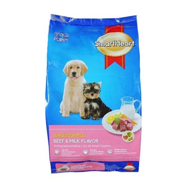 Thức ăn dành cho chó con Smart Heart Puppy 400g Vị thịt bò và sữa