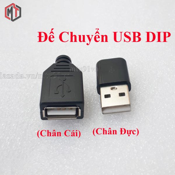 Combo 5 cái - Đế ra chân cổng USB Đực - Cái (USB DIP)