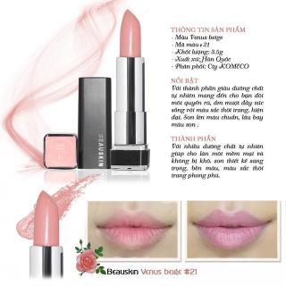 Son môi lâu trôi nhiều dưỡng Beauskin Crystal Lipstick No.21 3.5g ( Hồng Nude) thumbnail