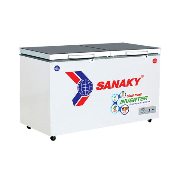 Tủ đông Sanaky mặt kính 2 chế độ Inverter ( xám ) VH-2899W4K 240 lít