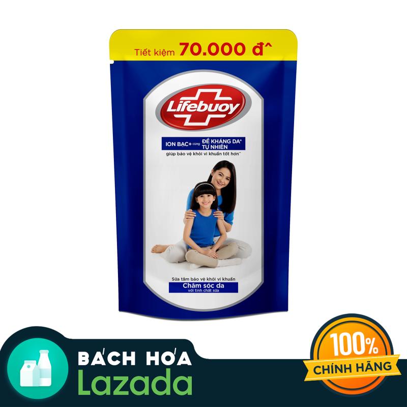 Sữa tắm sạch khuẩn Lifebuoy Chăm Sóc Da Túi 850G
