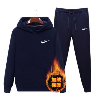 Nike Bữa Vận Động Bộ Nam Mùa Đông Mịn Hơn Bộ Quần Áo Liền Mũ Áo Nỉ Thông Dụng Trang Phục Thể Thao Thu Đông Bộ Hai Chiếc thumbnail