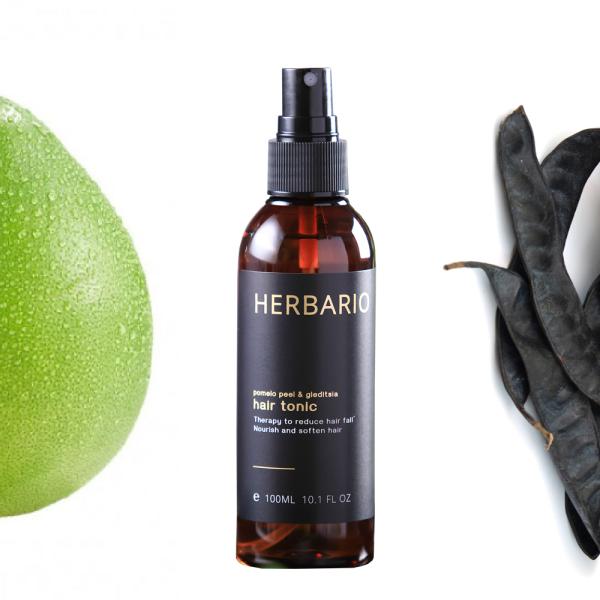 Nước xịt dưỡng tóc Vỏ Bưởi và Bồ Kết Herbario 100ml pomelo tinh dầu vỏ bưởi giảm rụng tóc giá rẻ