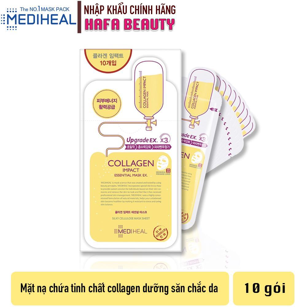 Combo 10 Mặt nạ dưỡng ẩm ngăn ngừa lão hóa da Mediheal Collagen Impact Essential Mask Ex 24ml x10 cao cấp