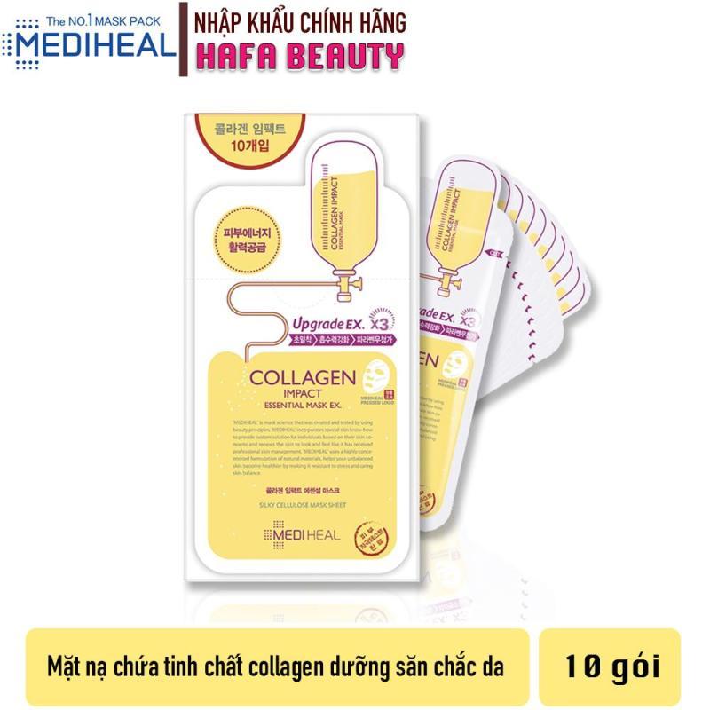 Combo 10 Mặt nạ dưỡng ẩm ngăn ngừa lão hóa da Mediheal Collagen Impact Essential Mask Ex 24ml x10 nhập khẩu