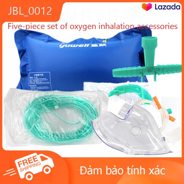 Yuwell 1L/2L/3L/5LBộ dụng cụ hít oxy 5Phụ Kiện Hệ Thống Cung Cấp Oxy Túi Hít Oxy Mặt nạ Oxy/ Oxygen Mask, Ống oxy,Mặt nạ Oxy y tế, phụ kiện máy tạo oxy y tế, tiêu chuẩn chất lượng, Chất liệu PVC y tế cao cấp