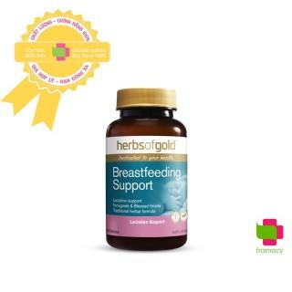 Viên uống lợi sữa Herbs Of Gold Breastfeeding Support, Úc (60v) giúp kích thích tuyến sữa cho mẹ sau sinh thumbnail