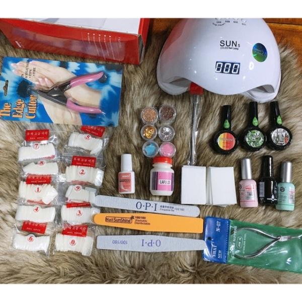 Sét dụng cụ nail móng đầy đủ đồ cơ bản , cá nhân , có thể mua thêm để lên sét nâng cao đầy đủ phụ kiện ,máy hơ ,móng giả giá rẻ