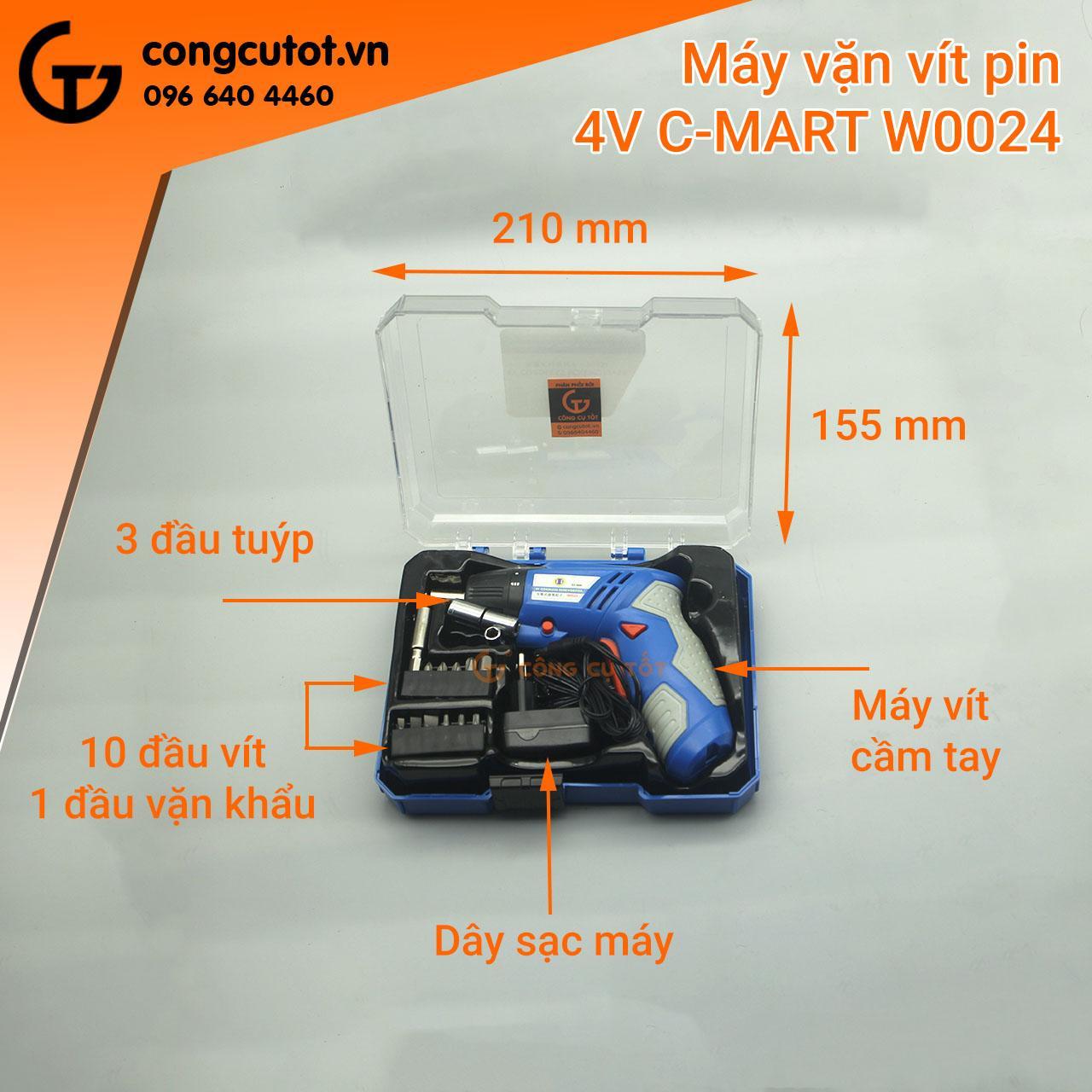 Máy vặn vít dùng pin sạc 4V C-mart W0024