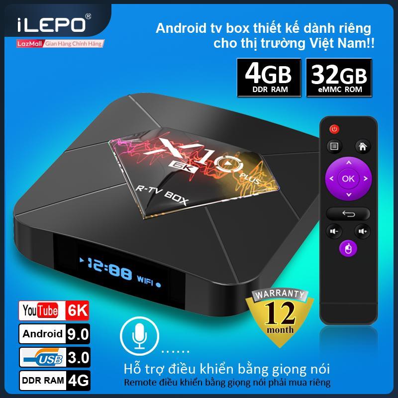 Android TV Box X10 Plus Ram 4GB ,Hỗ Trợ Xem Chất Lượng HD 6K , Bộ Nhớ Trong 32GB . Hỗ Trợ Cổng HDMI , Không Hỗ Trợ CỔng AV, Có Chức Năng Tìm Kiếm Giọng Nói , Android TV Box Thiết Bị Thông Minh , Sản Phẩm Bảo Hành 1 Năm , Tv Android Box X10 Plus Có Giá Siêu Tốt