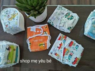[gồm 3 quần 6 lót] COMBO 3 bộ bỉm vải babu nature chống tràn size M 3-12kg, L 9-18kg thumbnail