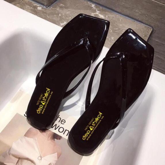 Dép nữ xỏ ngón thời trang hàn quốc-có size lớn 42 43 Depvashock MS 12017 giá rẻ