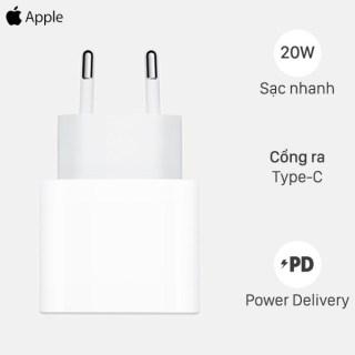 [ Nguyên Sale- BH 12 Tháng] Củ Sạc Nhanh iPhone Apple PD 20W Kèm Cáp Sạc Hàng Chínhh Hãng Cho iPhone iPad MHJE3ZA A- Công Nghệ Power Delivery- Cổng Type-C Sạc Nhanh- Hỗ Trợ Mọi Dòng Iphone Từ iPhone 8 Đến iPhone 12. Lỗi 1 Đổi Mới. thumbnail