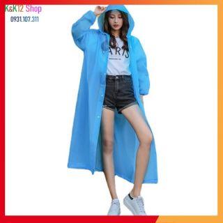 Áo mưa chuyên dụng chất liệu cao cấp. Áo mưa trong suốt chống thấm thời trang Hàn Quốc phù hợp cho cả nam và nữ thumbnail