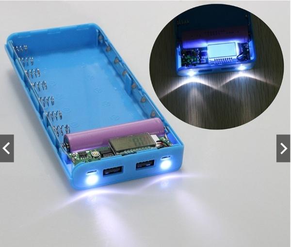 Bảng giá Hộp Sạc dự phòng 2 cổng USB chứa 8 pin 18650 có màn hình LCD hiển thị Phong Vũ
