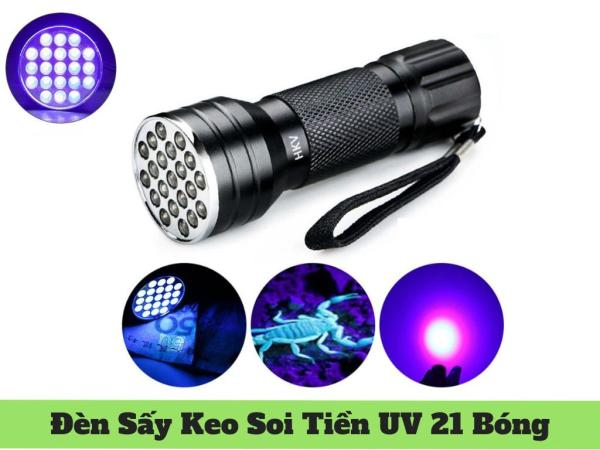 Bảng giá Đèn Pin UV LED 21 Bóng Sấy Keo UV, Soi Tiền