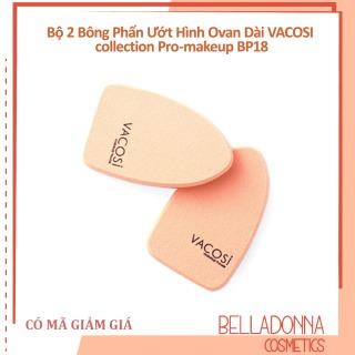 Bộ 2 Bông Phấn Ướt Hình Ovan Dài VACOSI collection Pro-makeup BP18 thumbnail