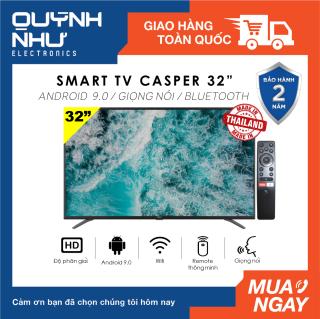 (Trả góp 0%) Smart Voice Tivi Casper 32 inch 32HG5000 32HG5100 32HG5200 (HD Ready, Android 9.0, Điều khiển giọng nói, DVB-T2, Bluetooth, Chromecast built-in, Nexflix, Youtube, màu đen) - Hàng Thái Lan - Tivi giá rẻ - Bảo hành 2 năm thumbnail