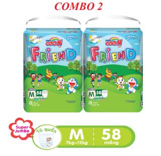 Combo 2 bịch Tã quần Goo.N Friend gói cực đại size M 58 miếng bịch (cho bé từ 7 - 12kg) thumbnail