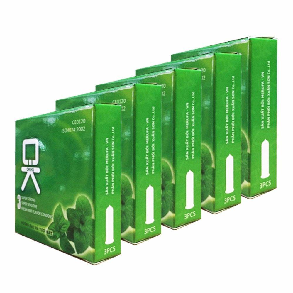Bộ 10 hộp Bao cao su OK bạc hà mát lạnh cho cảm giác thăng hoa.
