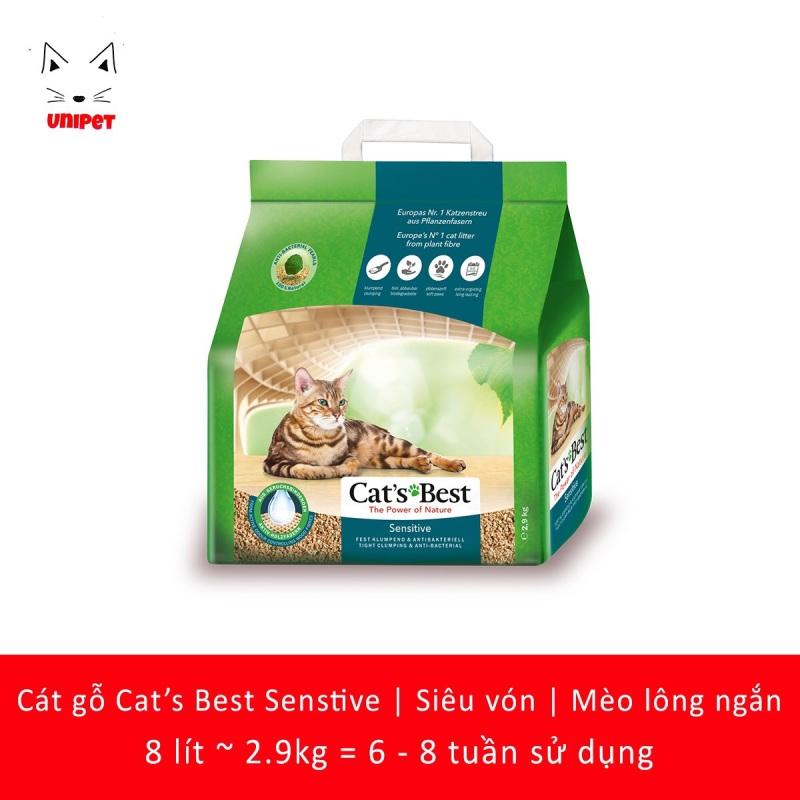 Cát vệ sinh siêu vón khử mùi kháng khuẩn Cats Best Sensitive 8 lít
