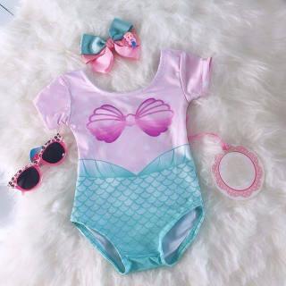 Nikit Đồ Bơi Nàng Tiên Cá Cho Bé Gái Mới 0-4 Tuổi Bộ Đồ Bơi Bikini Tankini Beachwea