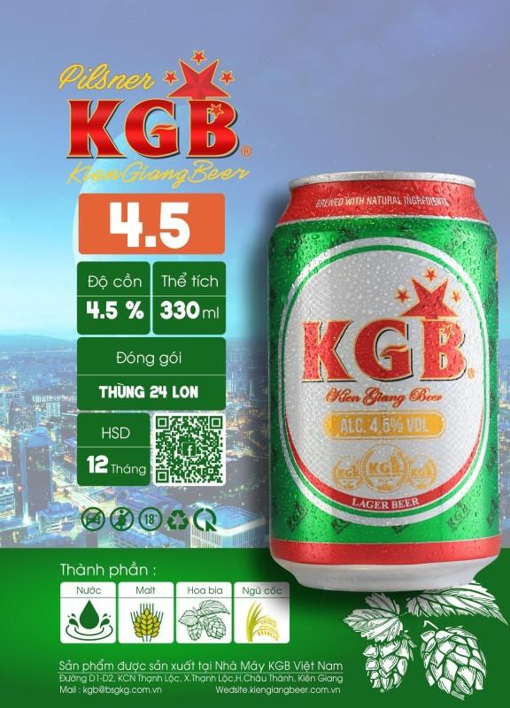 Bia KGB lon STD 4.5 vol