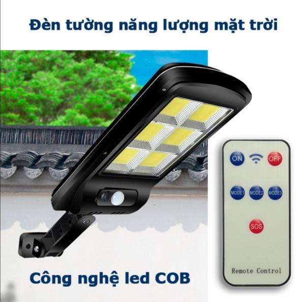 Đèn đường LED năng lượng mặt trời. Công xuất 150W. Có điều khiển từ xa