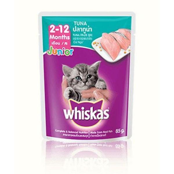 Whiskas - Sốt Pate cho mèo vị cá ngừ túi 85g CÁ NGỪ