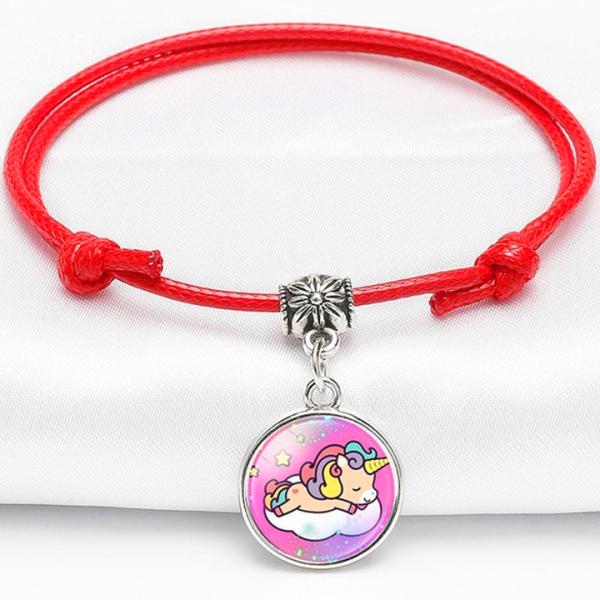 Giá bán Vòng tay Unicorn dây da mặt đá đơn giản đáng yêu cho bé gái có thể điều chỉnh kích thước phù hợp cho bé BBShine – J065