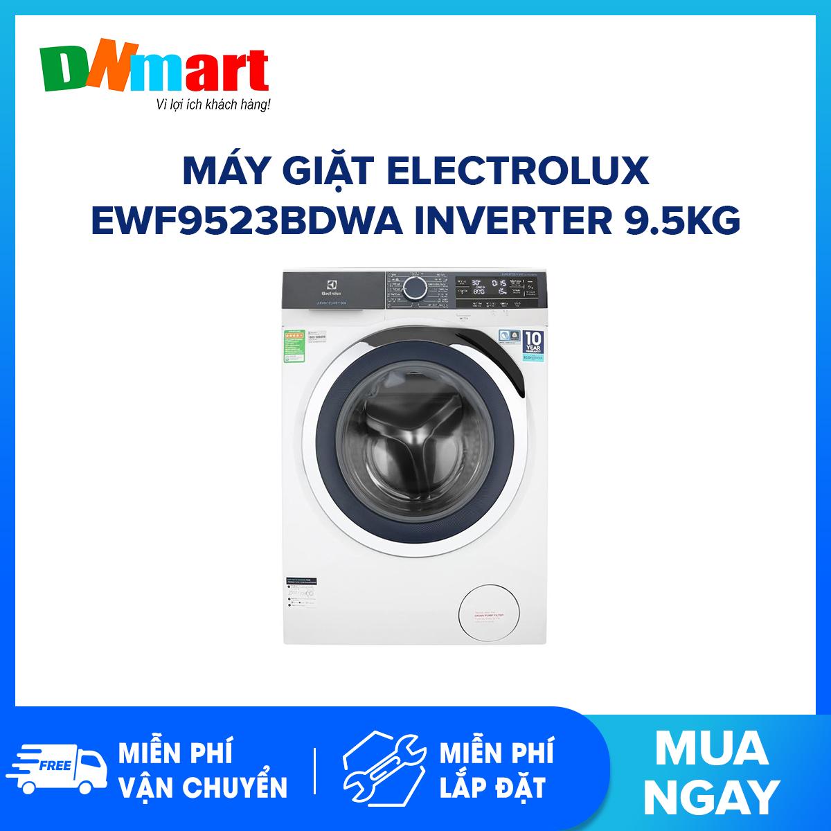 Bảng giá Máy giặt Electrolux EWF9523BDWA Inverter 9.5kg 1200 vòng/phút 15 Chương trình (Miễn phí vận chuyển và lắp đặt)