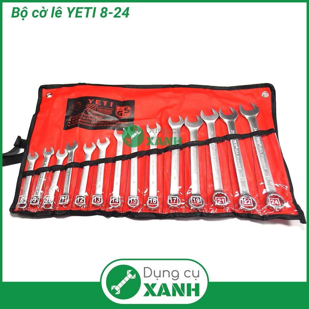 Bộ cờ lê vòng miệng YETI 14 chi tiết 8-24mm