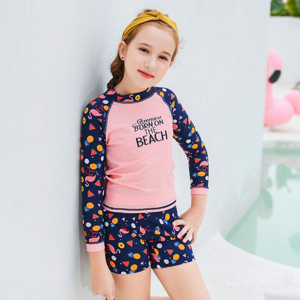 Giá bán Quần áo bơi cho bé gái đẹp vải co giãn 4 chiều size bé từ 28-45kg