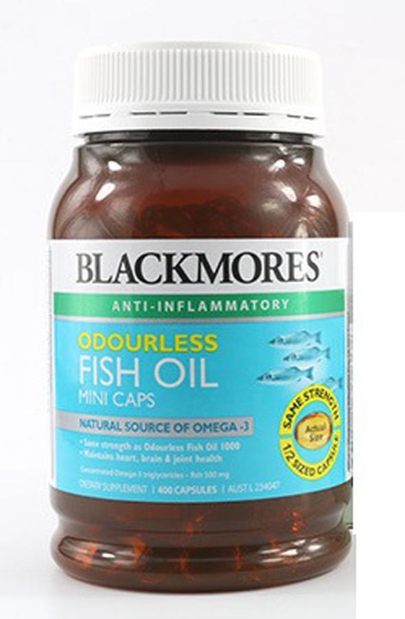 Dầu Cá Không mùi Blackmores Fish Oil 1000 Mg Hộp 400 Viên nhập khẩu